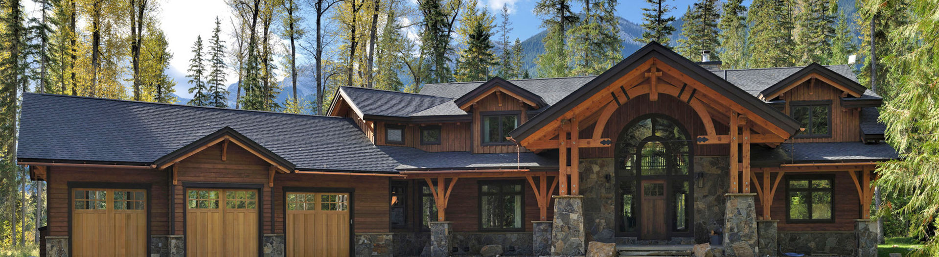 Canadian timberframes ranch style timberframes for Ranch style timber frame homes