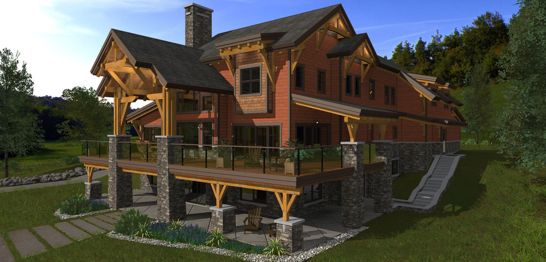 Our house designs and floor plans for Luxury timber frame home plans