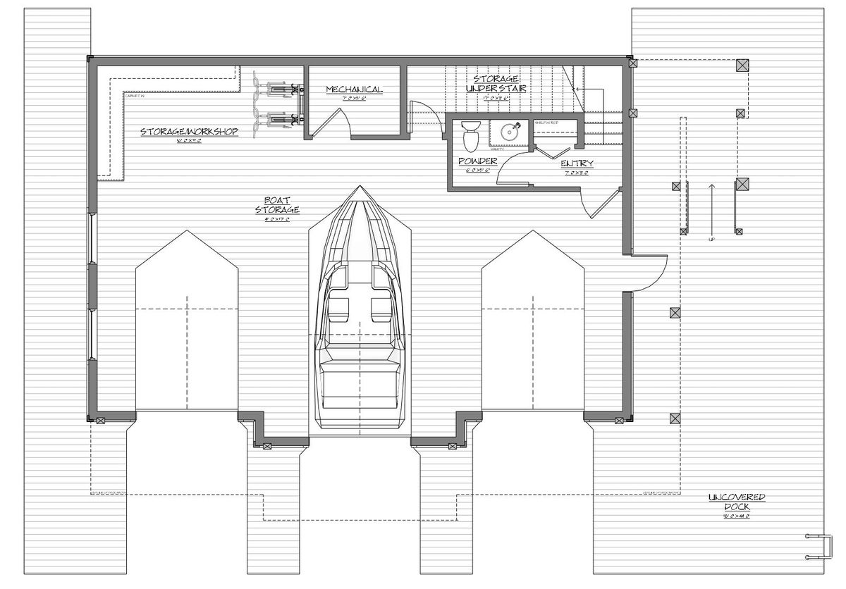 Guest boathouse for Boat house blueprints