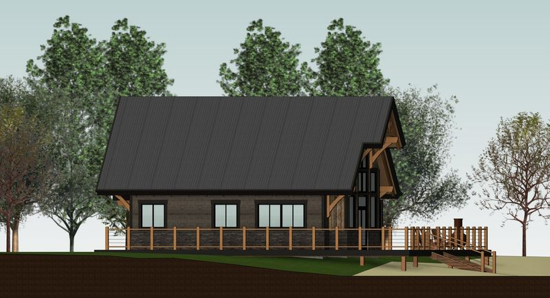 Sweetwater-Cabin-Canadian-Timberframes-Design-Front-Elevation