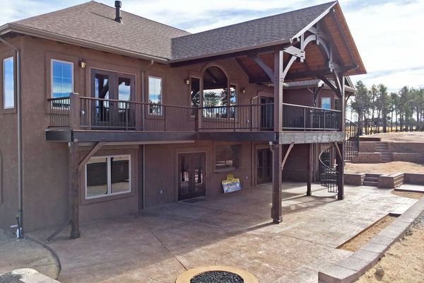Black-Forest-Timber-Frame-Home-Colorado-Canadian-Timberframes-Rear-Deck