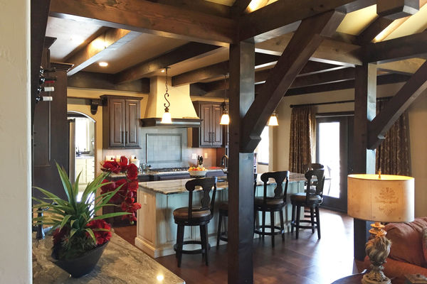 Black-Forest-Timber-Frame-Home-Colorado-Canadian-Timberframes-Kitchen