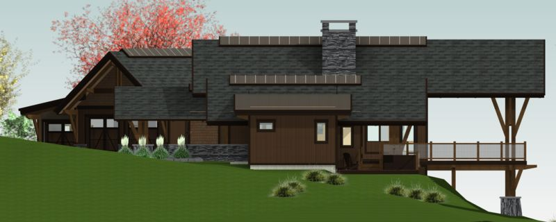 Sandpoint-Canadian-Timberframes-Design-Right-Elevation