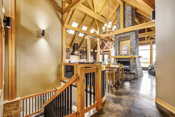 Foothills-of-Calgary-Alberta-Canadian-Timberframes-Entrance-Foyer