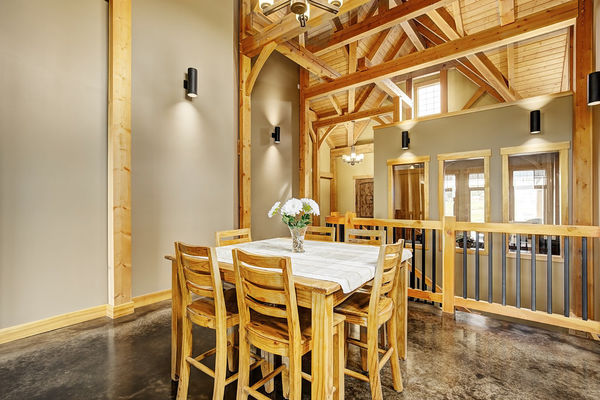 Foothills-of-Calgary-Alberta-Canadian-Timberframes-Dining