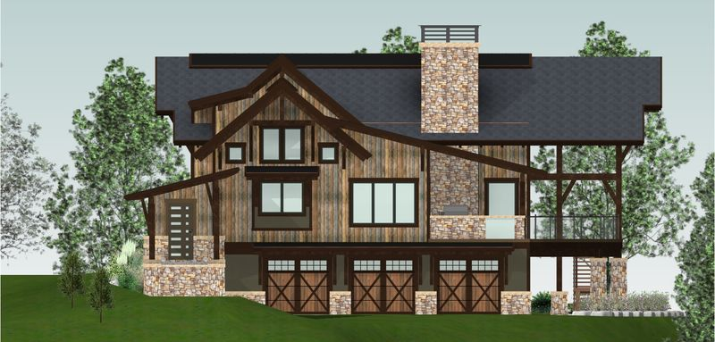 Whytecliff-Canadian-Timberframes-Design-Right-Elevation