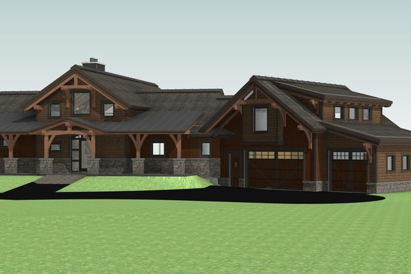 Montrose-Ranch-Colorado-Canadian-Timberframes-Design-Front-Right-3D