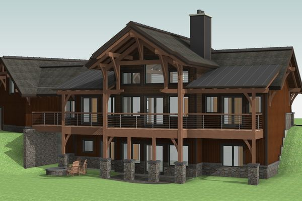 Montrose-Ranch-Colorado-Canadian-Timberframes-Design-Rear-Left-3D
