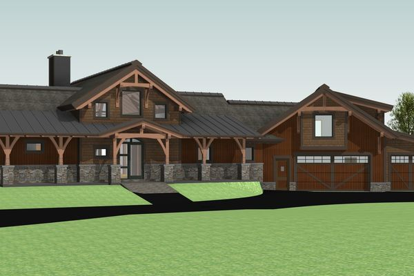 Montrose-Ranch-Colorado-Canadian-Timberframes-Design-Front-Left-3D