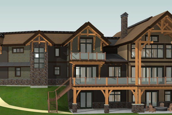Fraser-River-Timber-Home-British-Columbia-Design-Rear-Right