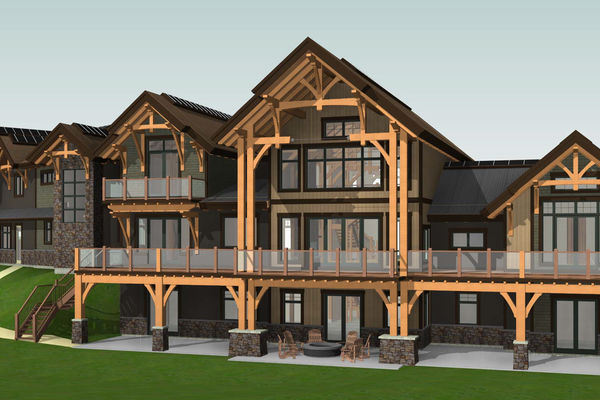 Fraser-River-Timber-Home-British-Columbia-Design-Rear-Left