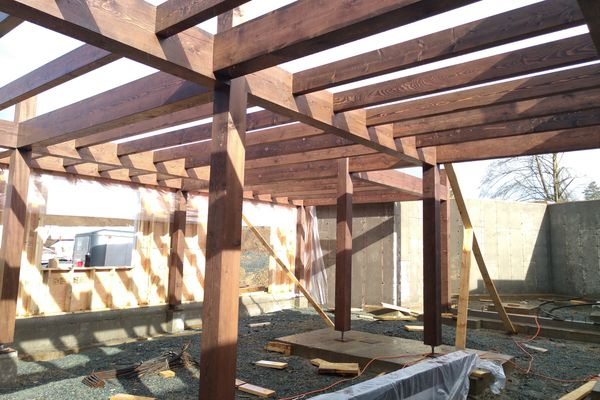 Fraser-River-Timber-Home-British-Columbia-Construction-Basement