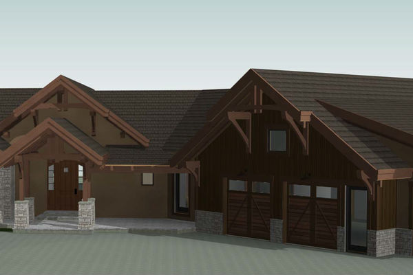Colorado-Springs-Timber-Home-Canadian-Timberframes-Design-front-right-elevation