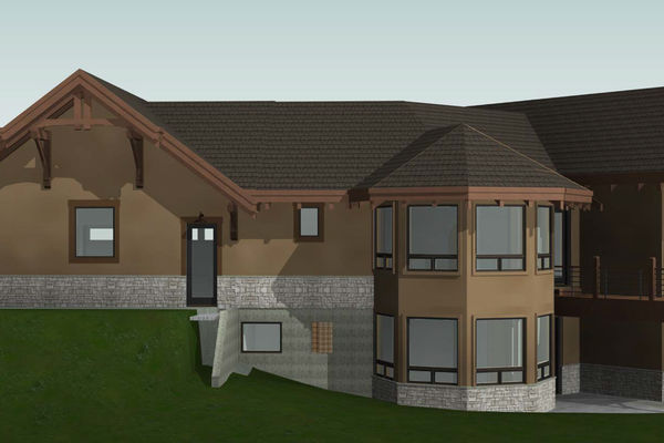 Colorado-Springs-Timber-Home-Canadian-Timberframes-Design-Rear-Right-Elevation