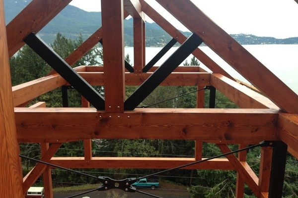 Whytecliff-Bowen-Island-British-Columbia-Construction-Truss