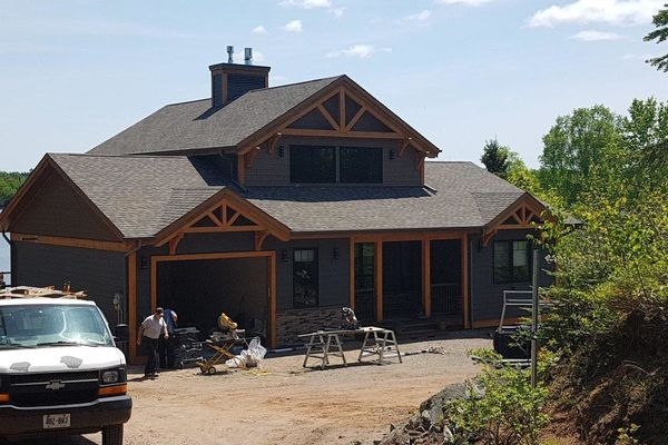Loon-Lake-Cottage-Ontario-Canadian-Timberframes-Completed-Rear-Exterior-Front-Exterior