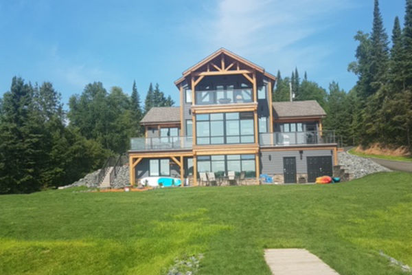 Loon-Lake-Cottage-Ontario-Canadian-Timberframes-Completed-Rear-Exterior