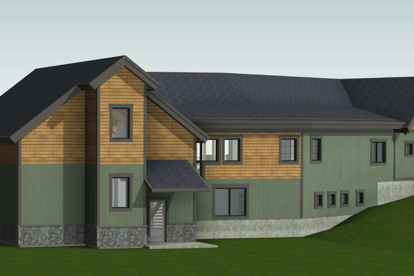 White-Mountain-Timber-Home-Canadian-Timberframes-New-Hampshire-Design-Rear-Right-Perspective