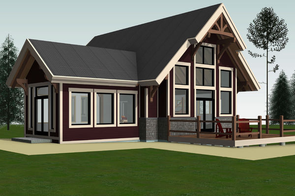 Rocky-Mountain-House-Canadian-Timberframes-Design-Front-Left
