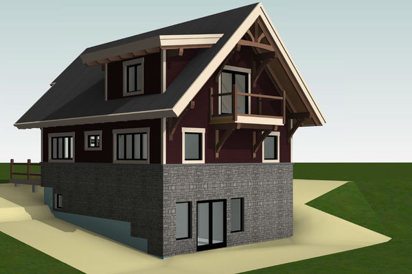 Rocky-Mountain-House-Canadian-Timberframes-Design-Rear-Left