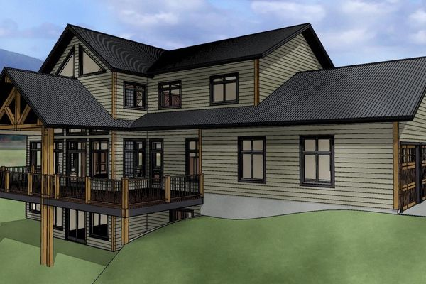 Red-Deer-Timber-Frame-Alberta-Canadian-Timberframes-Design-Rear-Right