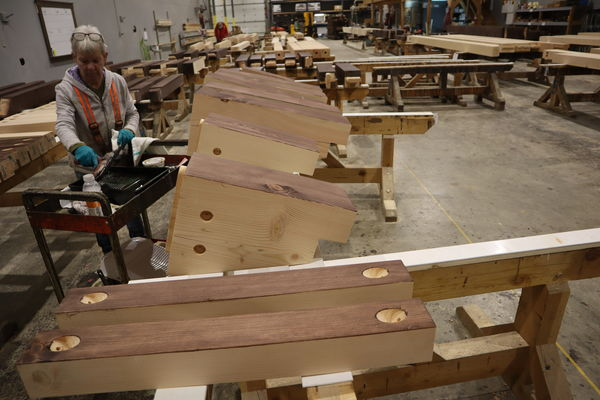 Cody-Wyoming-Canadian-Timberframes-Production-Staining
