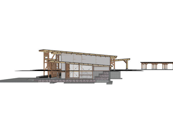 Halibut-Point-Cruise-Terminal-Alaska-Canadian-Timberframes-Design-Left-Elevation