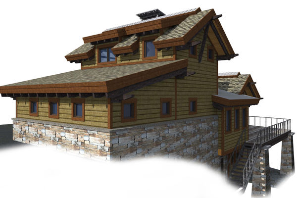 Kicking-Horse-Chalet-British-Columbia-Canadian-Timberframes-Design-Elevation