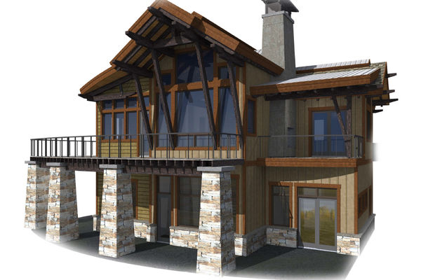 Kicking-Horse-Chalet-British-Columbia-Canadian-Timberframes-Design-Back-Deck-Elevation