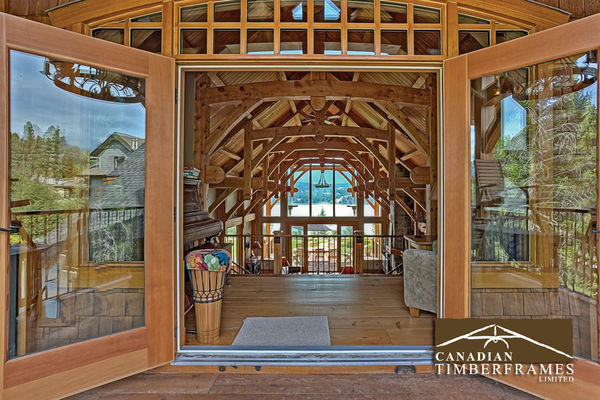 Osprey-Point-Invermere=British-Columbia-Canadian-Timberframes-Doorway