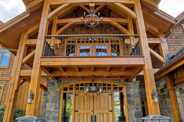 Osprey-Point-Invermere=British-Columbia-Canadian-Timberframes-Front-Door