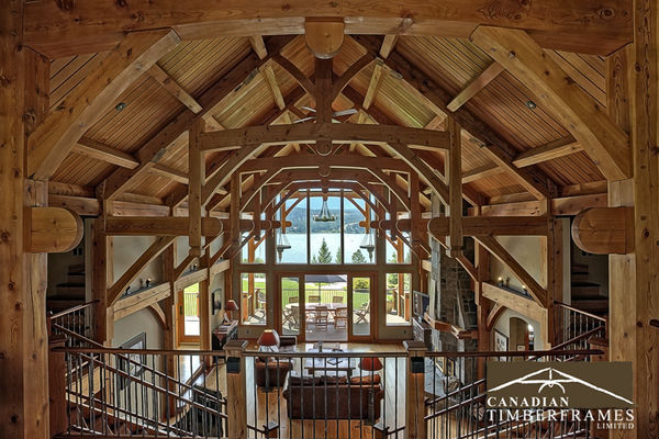 Osprey-Point-Invermere=British-Columbia-Canadian-Timberframes-Loft-Balcony