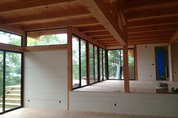 Island-Cottage-Ontario-Canadian-Timberframes-Construction-Interior