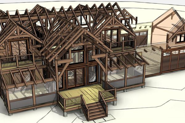 Lake-of-Woods-Cottage-Ontario-Canadian-Timberframes-Design-Timber-View