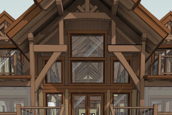Lake-of-Woods-Cottage-Ontario-Canadian-Timberframes-Design-South-Perspective