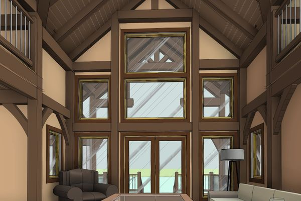Lake-of-Woods-Cottage-Ontario-Canadian-Timberframes-Design-Interior-Great-Room
