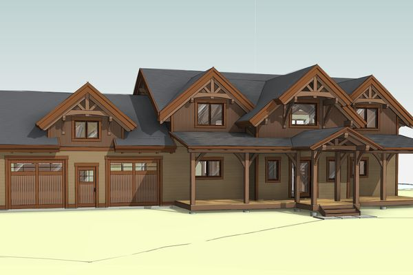 Lake-of-Woods-Cottage-Ontario-Canadian-Timberframes-Design-North-East-Perspective