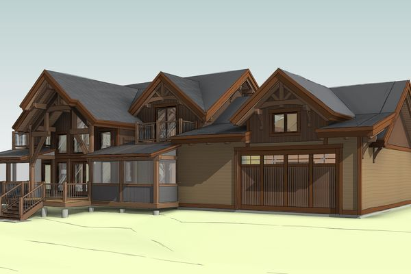 Lake-of-Woods-Cottage-Ontario-Canadian-Timberframes-Design-South-East-Perspective