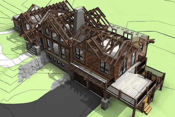 Rustic-Redstone-Colorado-Canadian-Timberframes-Design-Exploded-Timber