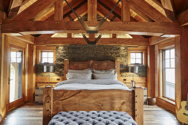 Hill-Top-Retreat-Collingwood-Ontario-Canadian-Timberframes-Master-Bedroom