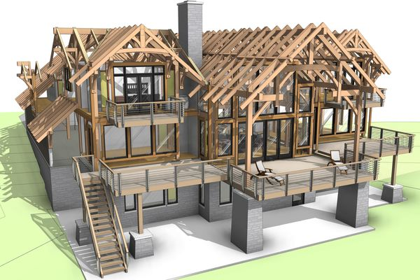 Osprey-Point-Invermere=British-Columbia-Canadian-Timberframes-Design-Exploded-Timber