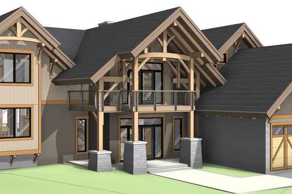 Osprey-Point-Invermere=British-Columbia-Canadian-Timberframes-Design-Front-Left-Elevation