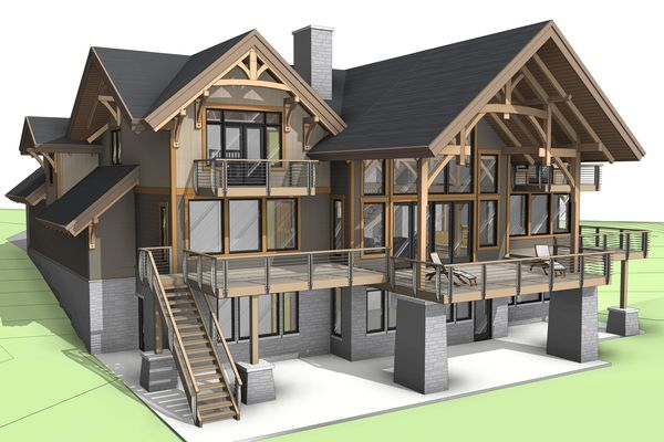 Osprey-Point-Invermere=British-Columbia-Canadian-Timberframes-Design-Rear-Right-Elevation
