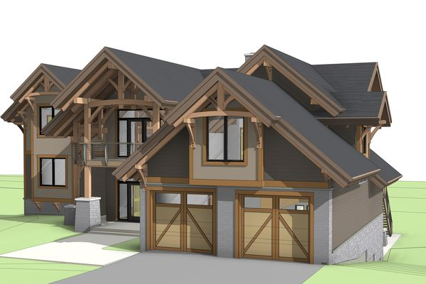 Osprey-Point-Invermere=British-Columbia-Canadian-Timberframes-Design-Front-Right-Elevation