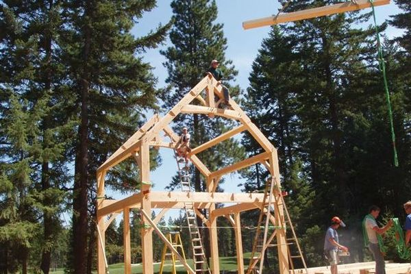 Deception-Pass-Washington-Canadian-Timberframes-Construction-Timber-Frame-Raising