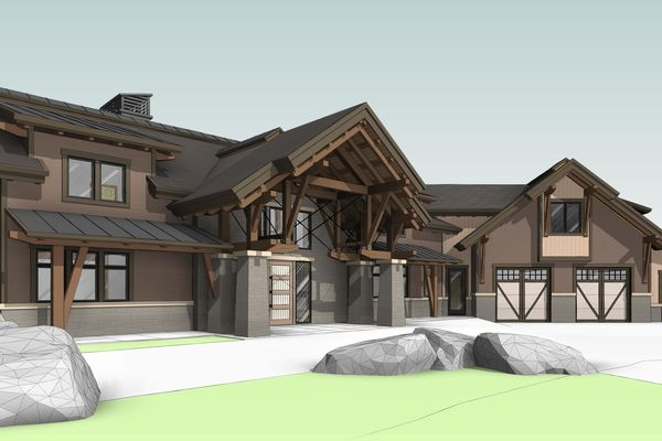 Lake-of-Bays-Haven-Ontario-Canadian-Timberframes-Design-Front-Left-Elevation