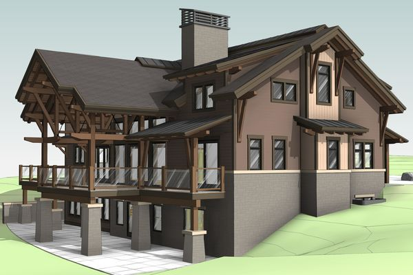 Lake-of-Bays-Haven-Ontario-Canadian-Timberframes-Design-Rear-Left-Perspective