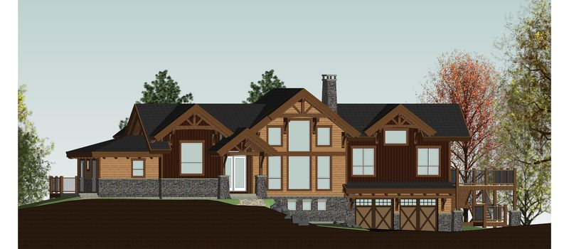 Rustic-Redstone-Canadian-Timberframes-Design-Front-Elevation