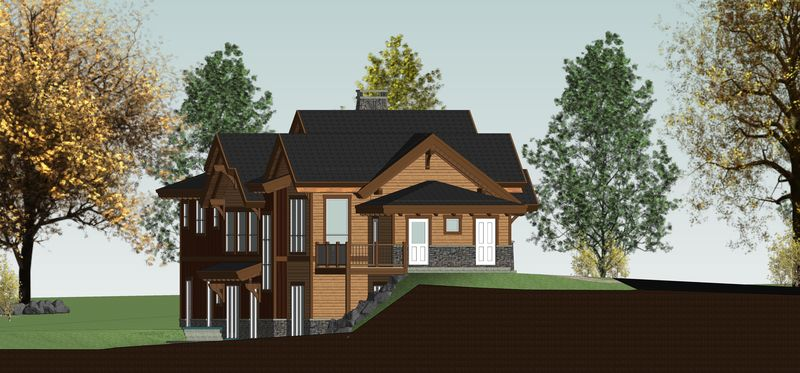 Rustic-Redstone-Canadian-Timberframes-Design-Left-Elevation