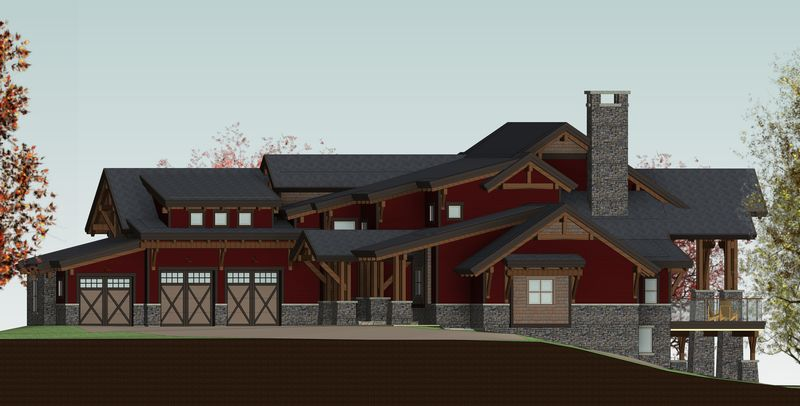 De-Winton-Steepe-Canadian-Timberframes-Design-Front-Elevation
